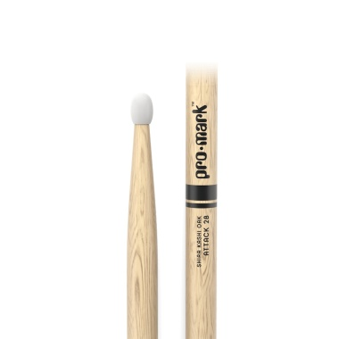 ProMark Classic Attack 2B Shira Kashi Oak Drumsticks PW2BN – Nylon Tip