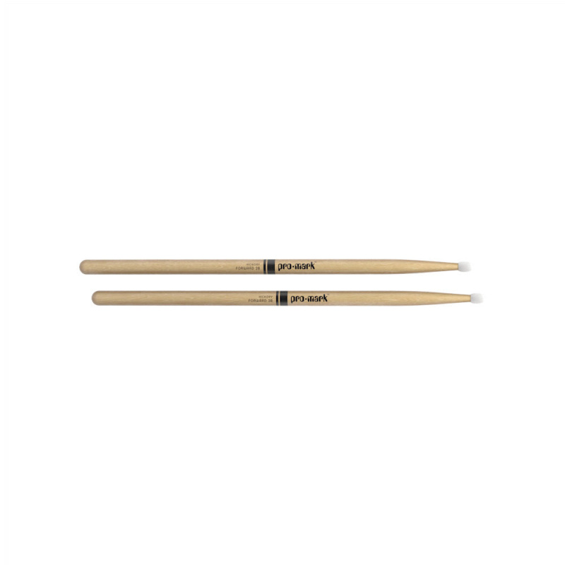 ProMark Classic Forward 2B Hickory Drumsticks TX2BN – Nylon Tip