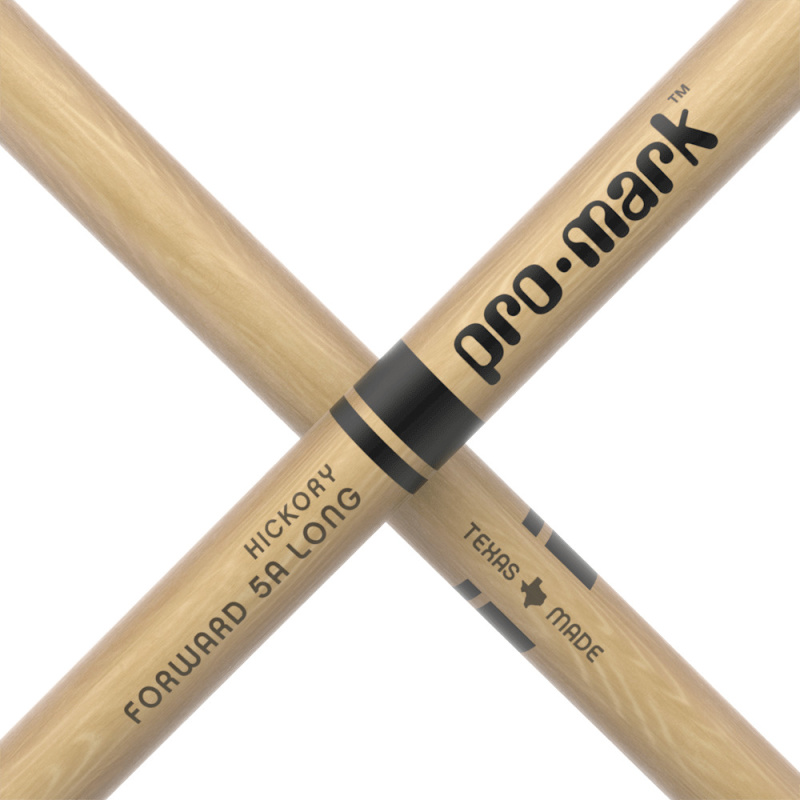 ProMark Classic Forward 5A Long Hickory Drumsticks TX5ALW – Wood Tip