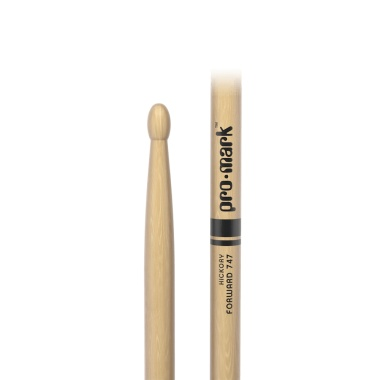 ProMark Classic Forward 747 Hickory Drumsticks TX747W – Wood Tip