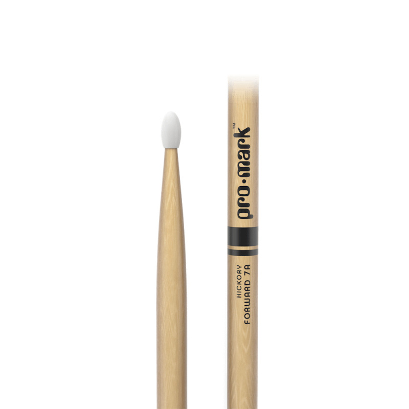 ProMark Classic Forward 7A Hickory Drumsticks TX7AN – Nylon Tip
