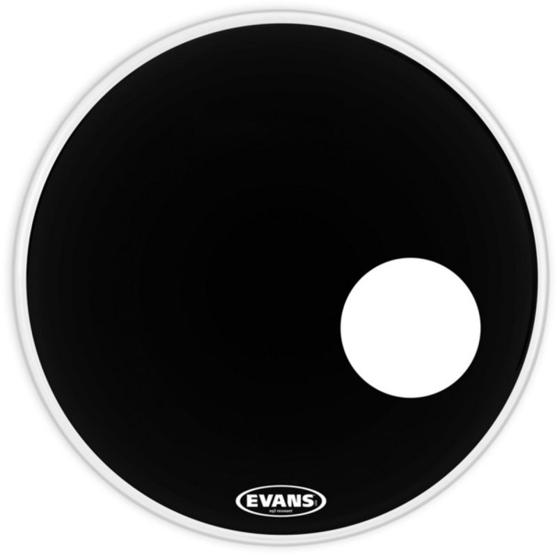 Evans 20in EQ3 Resonant Black Bass Head