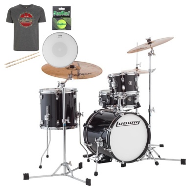 Ludwig Questlove Breakbeats kit – Black Gold Sparkle – FREE GOODIE BAG WORTH £50!