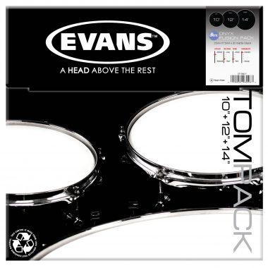 Evans Onyx Tom Pack – 10 12 14 Heads
