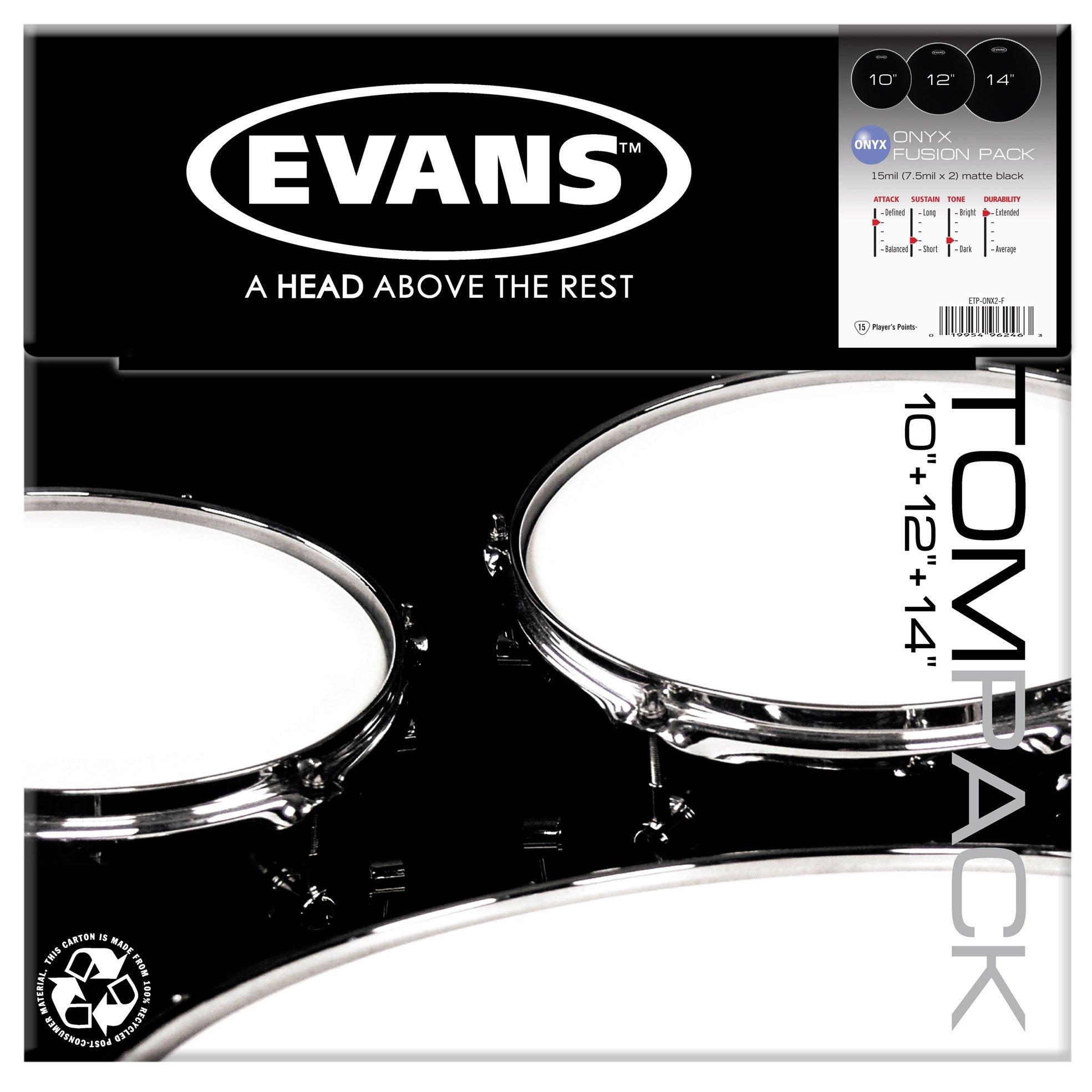 evans onyx tom pack 10 12 14 heads drummers only. Black Bedroom Furniture Sets. Home Design Ideas