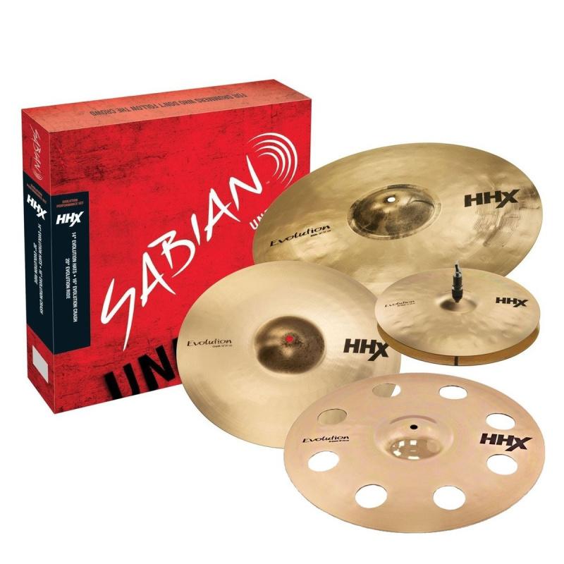 Sabian HHX Evolution Set with FREE 18in HHX O-Zone Crash