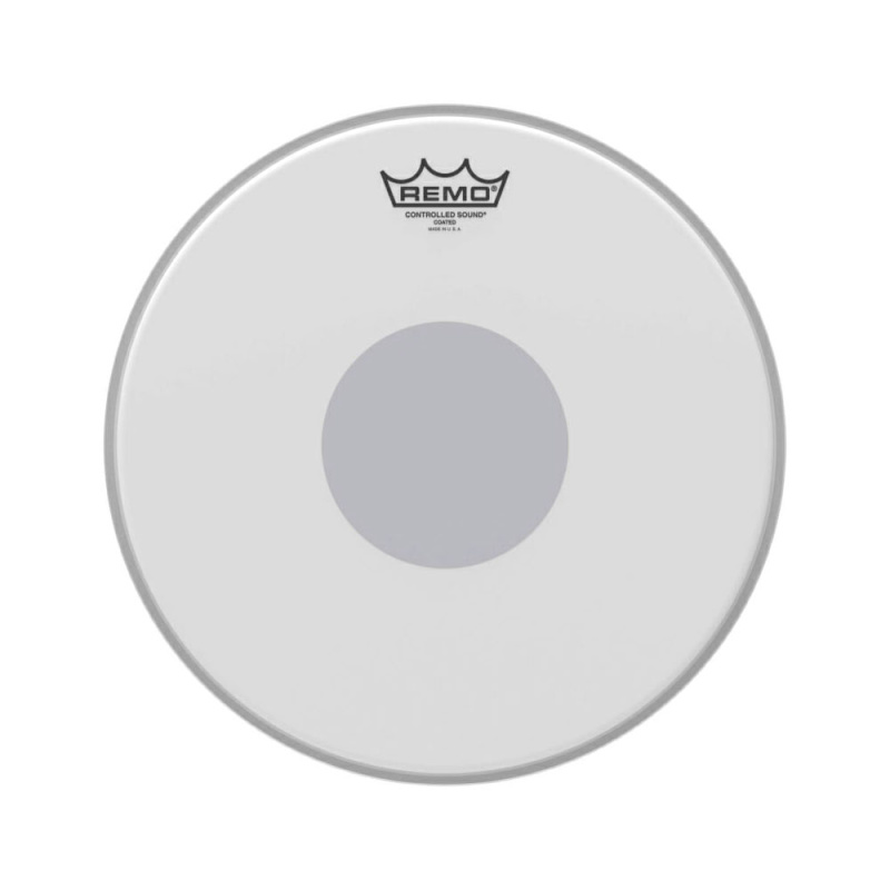 Remo Controlled Sound Coated 12in Drum Head with Black Dot