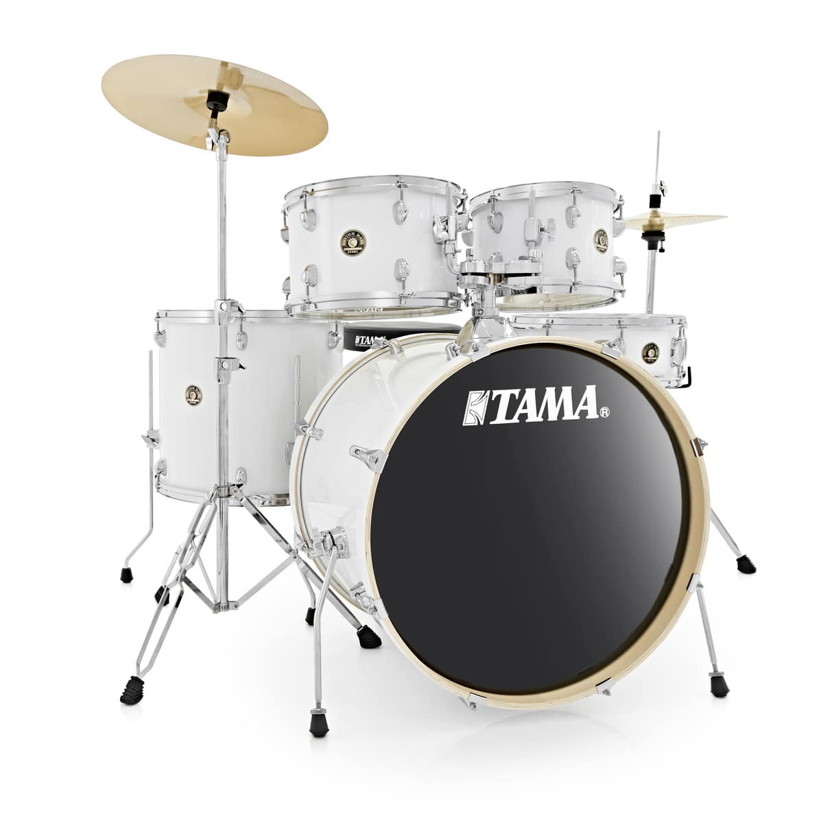 tama rhythm mate 5pc drum kit with zildjian cymbals white drummers only. Black Bedroom Furniture Sets. Home Design Ideas