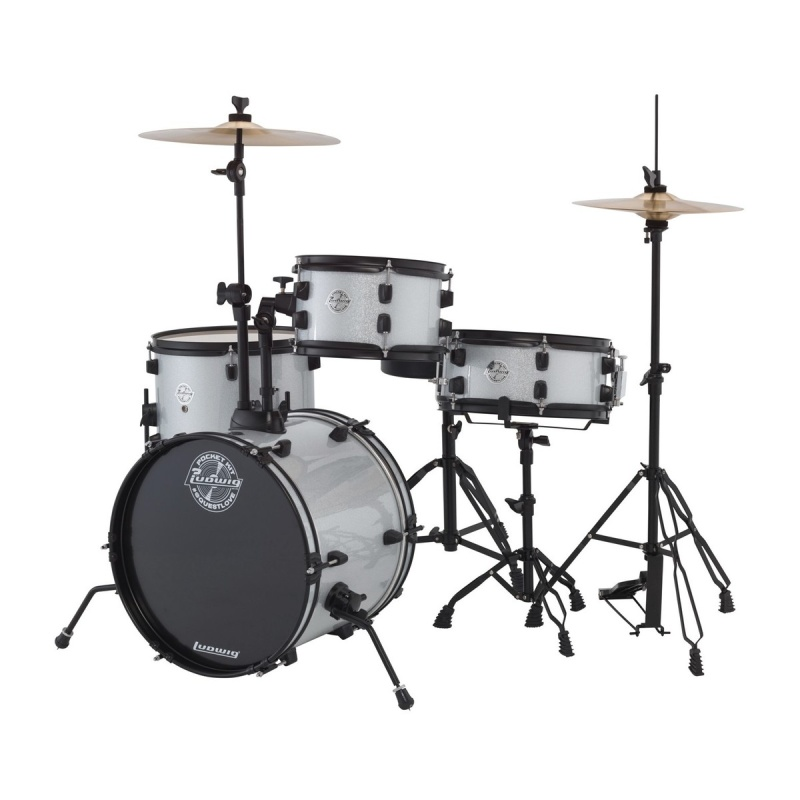 Ludwig 'The Pocket Kit' by Questlove – Silver Sparkle