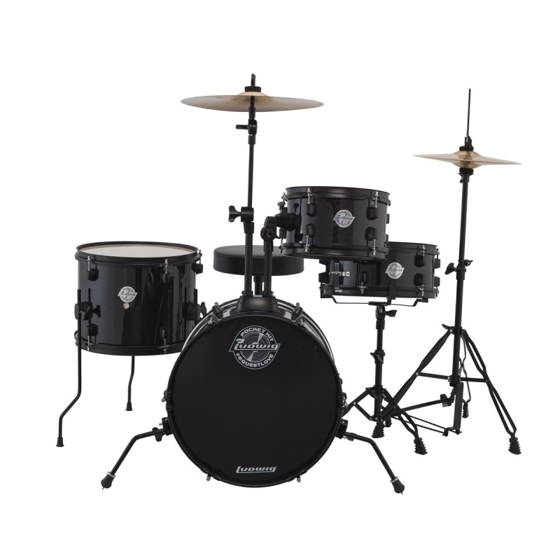 Ludwig 'The Pocket Kit' by Questlove – Black Sparkle