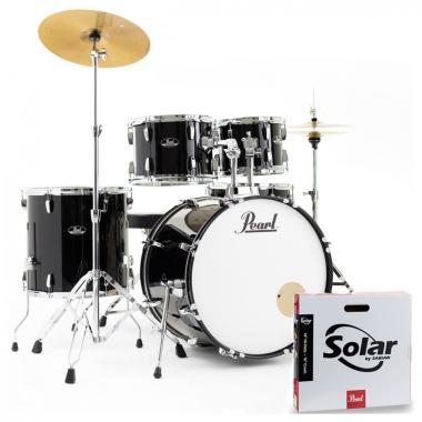 Pearl Roadshow 22in 5pc Drum Kit – Jet Black