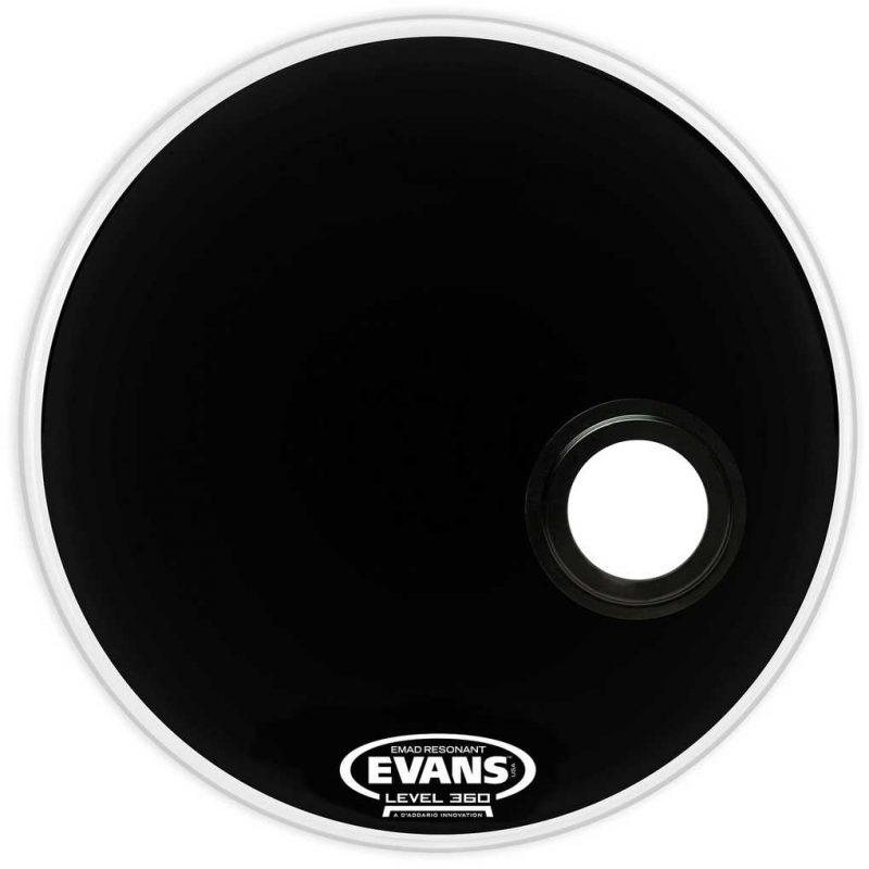 Evans EMAD 20in Black Resonant Bass Drum Head
