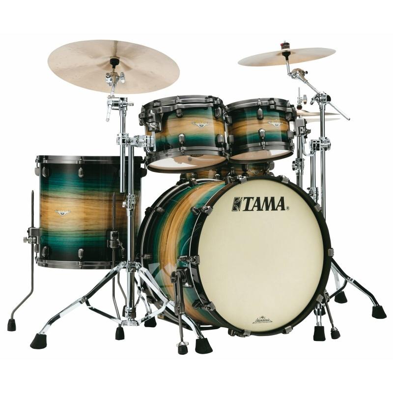Tama Starclassic Maple 22in 4pc Shell Pack – Emerald Pacific Walnut Burst