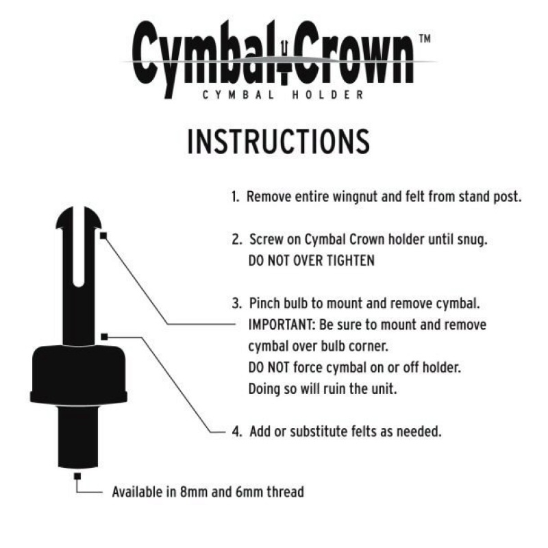 Cymbal Crown – 8mm
