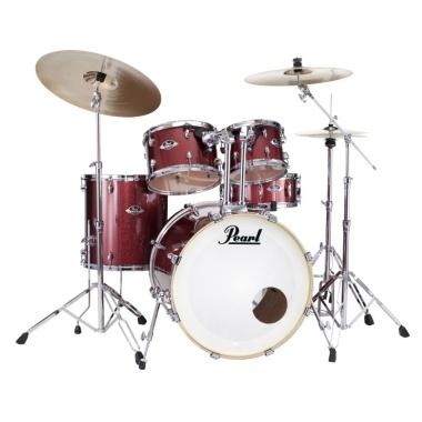 Pearl Export EXX 5pc 20in Fusion Kit w/Sabian SBR Cymbals – Black Cherry Glitter