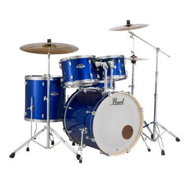 Pearl Export EXX 5pc 22in American Fusion Kit w/Sabian SBR Cymbals – High Voltage Blue