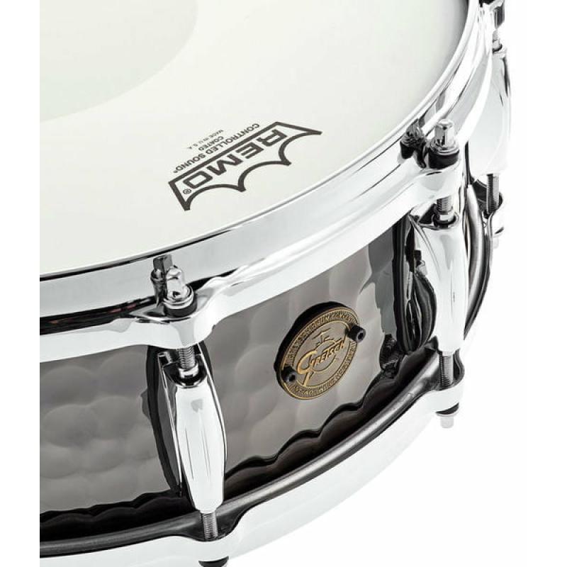 Gretsch Full Range 14x5in Hammered Black Steel Snare