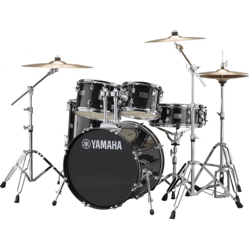 Yamaha Rydeen 20in 5pc Kit – Black Glitter With Paiste Cymbals