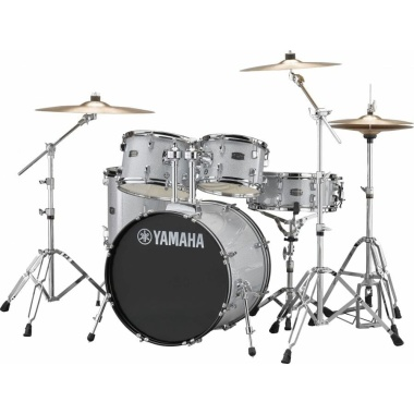 Yamaha Rydeen 20in 5pc Kit – Silver Glitter With Paiste Cymbals