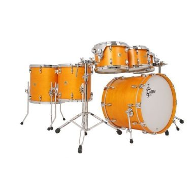 Gretsch USA Custom 7pc Shell Pack – Satin Sun Amber