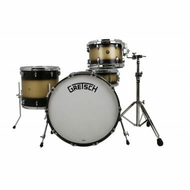 Gretsch Broadkaster Standard 4pc Shell Pack – Satin Black Gold Duco