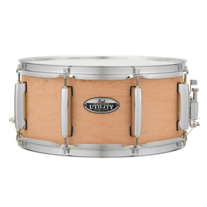 Pearl Modern Utility 14×6.5in Maple Snare – Matte Natural