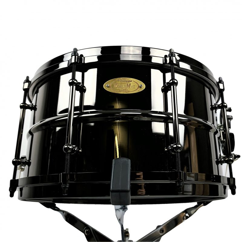 WorldMax 13x7in Black Brass Snare with Black Hardware