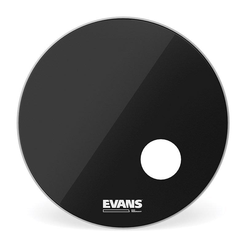 Evans EQ3 Reso Black 18in Bass Drum Head