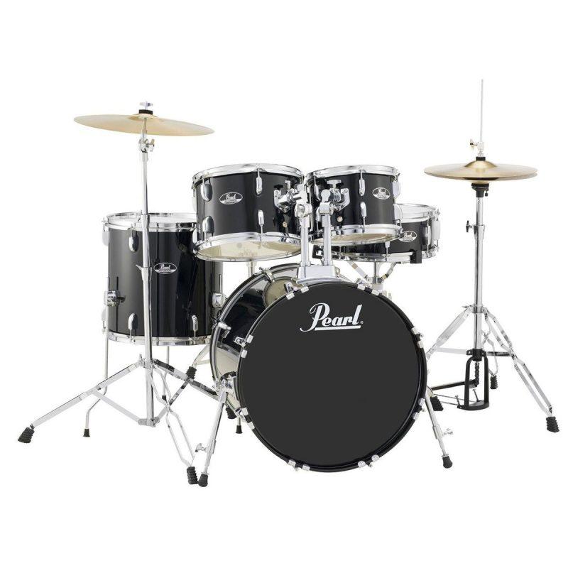 Pearl Roadshow 20 Fusion 5pc Drum Kit – Jet Black