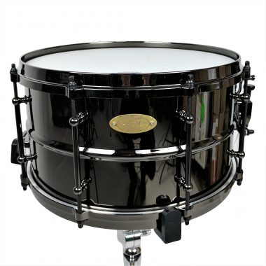 WorldMax 14x8in Black Brass Snare with Black Hardware