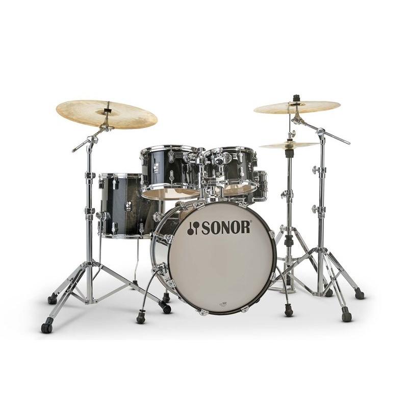 Sonor AQ2 Studio Set 5pc Shell Pack – Transparent Stain Black