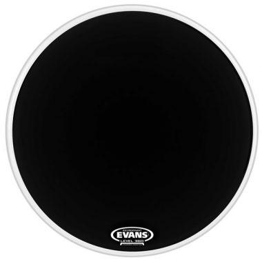 Evans EQ3 22in Black Reso Bass Drum Head – No Port