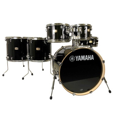 Yamaha Stage Custom 20in Fusion 6pc Shell Pack – Raven Black