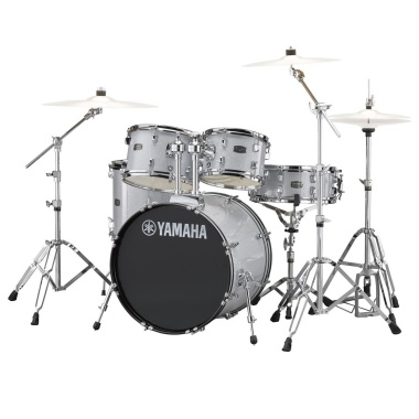 Yamaha Rydeen 22in 5pc Kit – Silver Glitter With Paiste Cymbals
