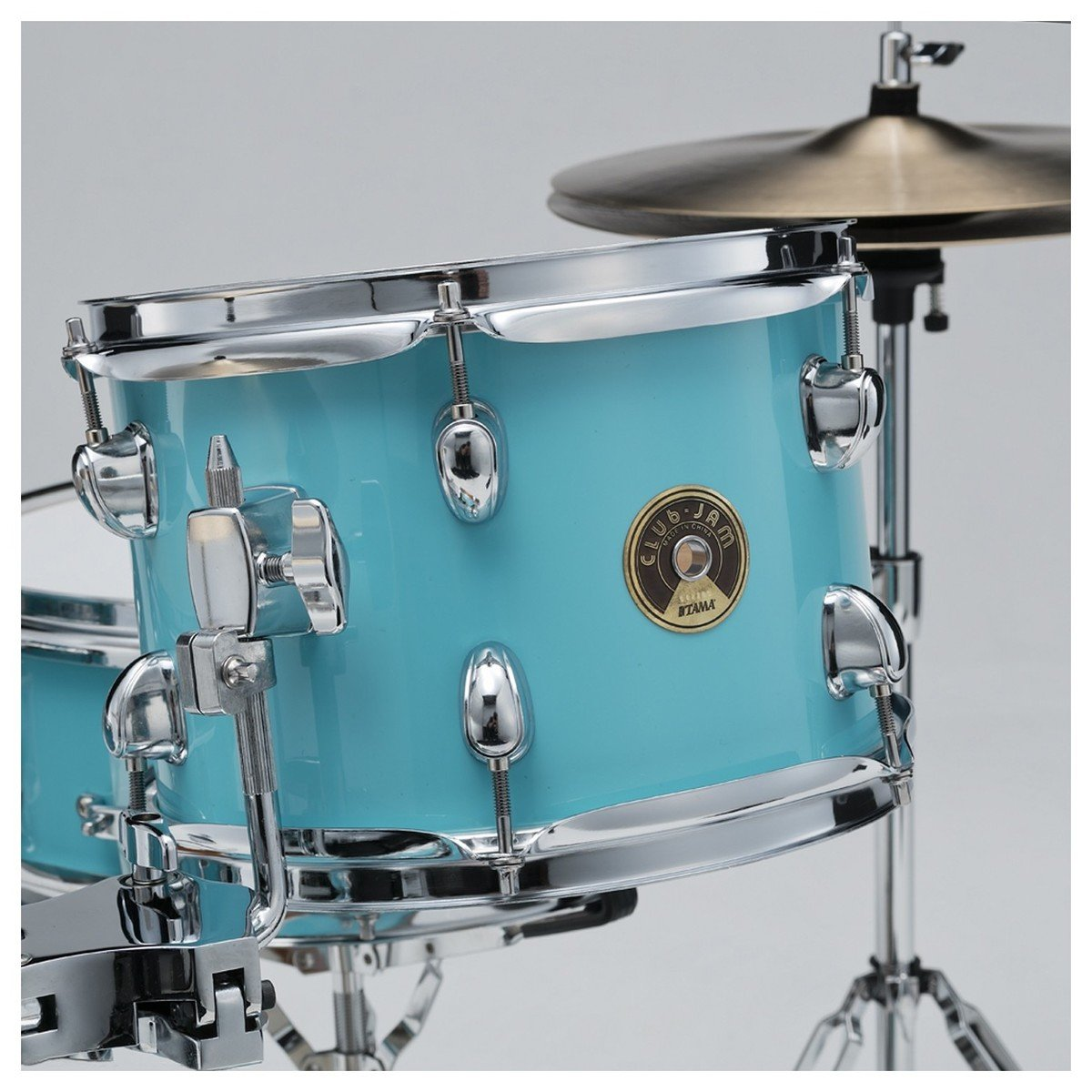 tama club jam compact 4pc shell pack with cymbal holder aqua blue drummers only. Black Bedroom Furniture Sets. Home Design Ideas
