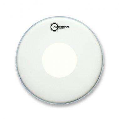 Aquarian Texture Coated Focus-X 14in White Drum Head