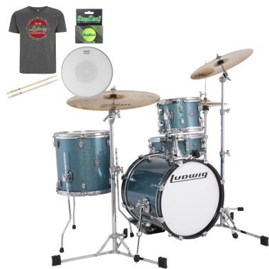 Ludwig Questlove Breakbeats kit – Azure Blue Sparkle – FREE GOODIE BAG WORTH £50!