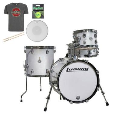 Ludwig Questlove Breakbeats kit – White Sparkle – FREE GOODIE BAG WORTH £50!