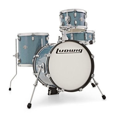 Ludwig Breakbeats Questlove 16in 4pc Shell Pack – Azure Blue Sparkle
