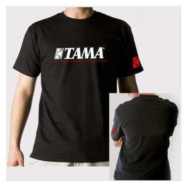 Tama T-Shirt Logo With Redline – Black – Small
