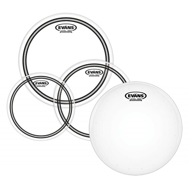 Evans EC2 Clear 10/12/16 Pack + HD Dry 14in Snare Head