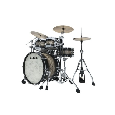 Tama STAR Walnut 5pc Shell Pack – Satin Black Japanese Sen Burst