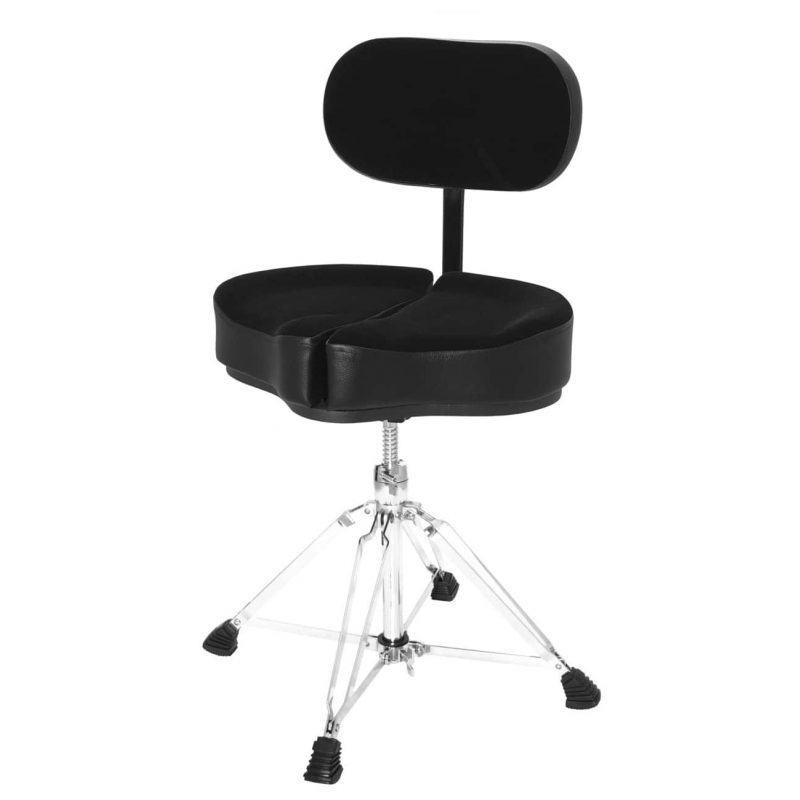Ahead Spinal G Drum Throne With Back Rest – Black