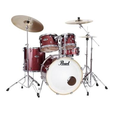 Pearl Export EXX 22in American Fusion Kit w/Sabian SBR Cymbals – Black Cherry Glitter