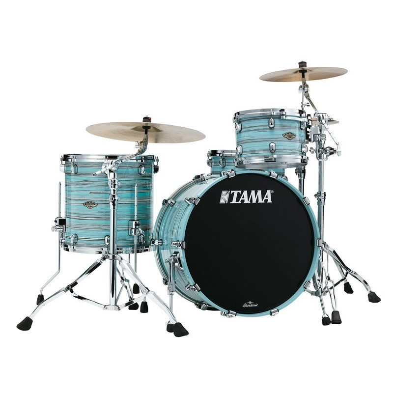 Tama Starclassic Walnut/Birch 3pc Shell Pack – Lacquer Arctic Blue Oyster