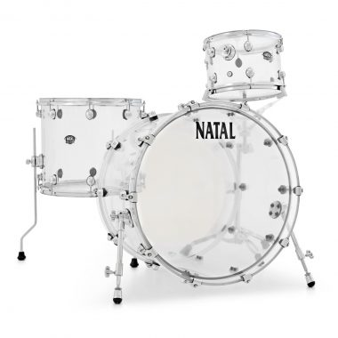 Natal Arcadia Acyrlic 22in 3pc Shell Pack – Transparent