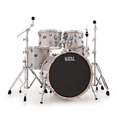 Natal Arcadia Poplar 20in Drum Kit – White Sparkle