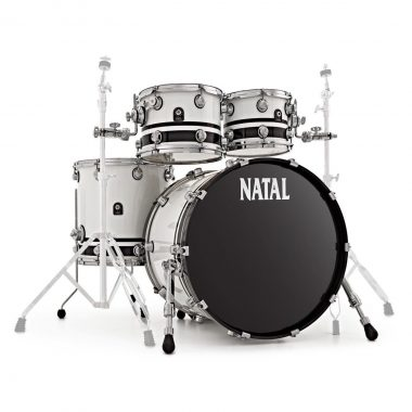 Natal Cafe Racer 22in 4pc Shell Pack – White With Black Sparkle Bands