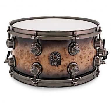 Natal 13x7in Originals Mappa Burl Snare Drum – Smoked Black Gloss – WITH FREE CASE!