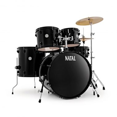 Natal EVO 22in Drum Kit With Cymbals And Hardware – Black